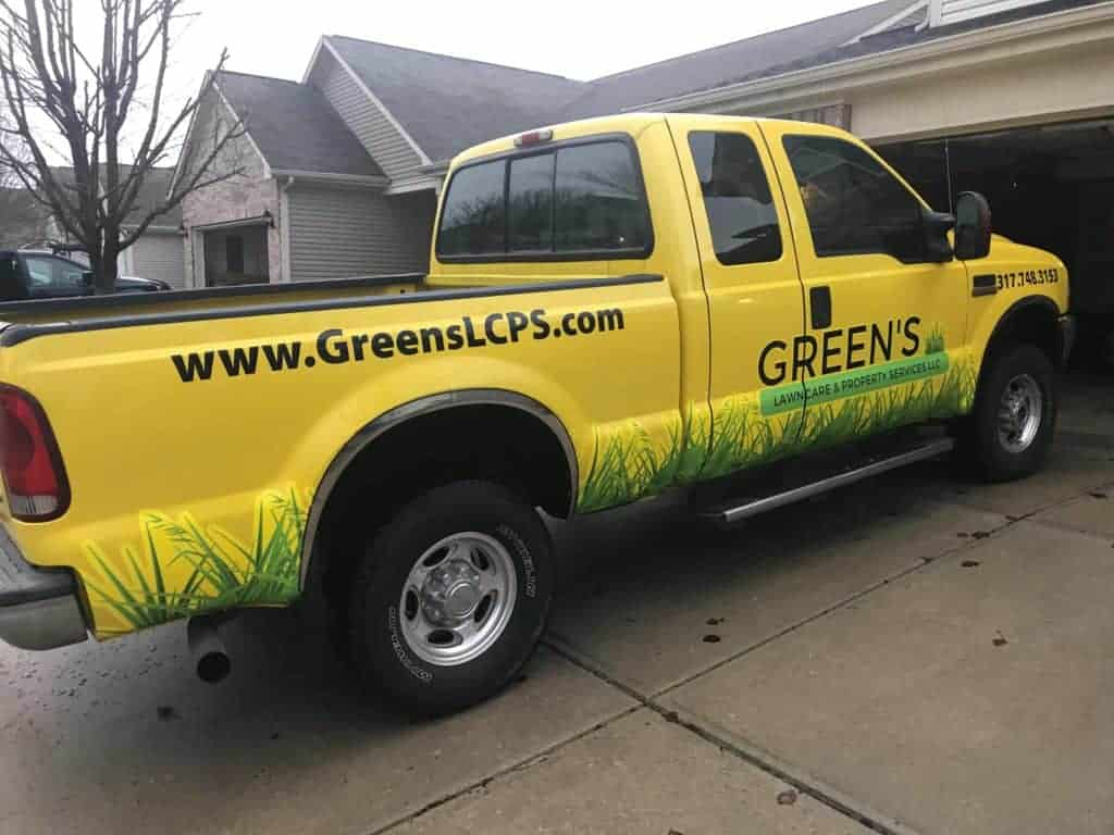 Lawn Care Truck Wraps - Green's