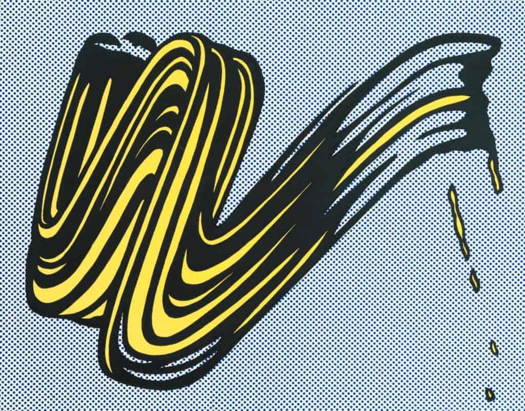 Brushstroke (1965) by Roy Lichtenstein