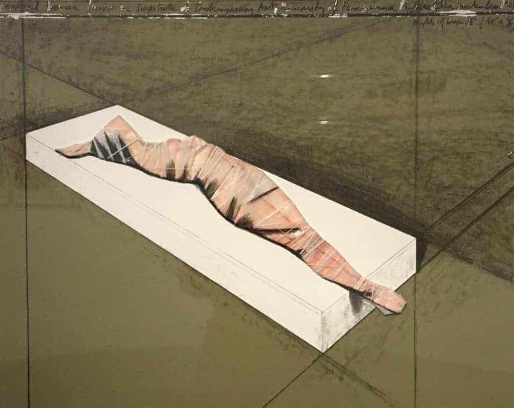 Christo, Wrapped Woman, 1968, 1997. Courtesy Ingrid and Thomas Jochheim and PalaisPopulaire, Twin Peaks