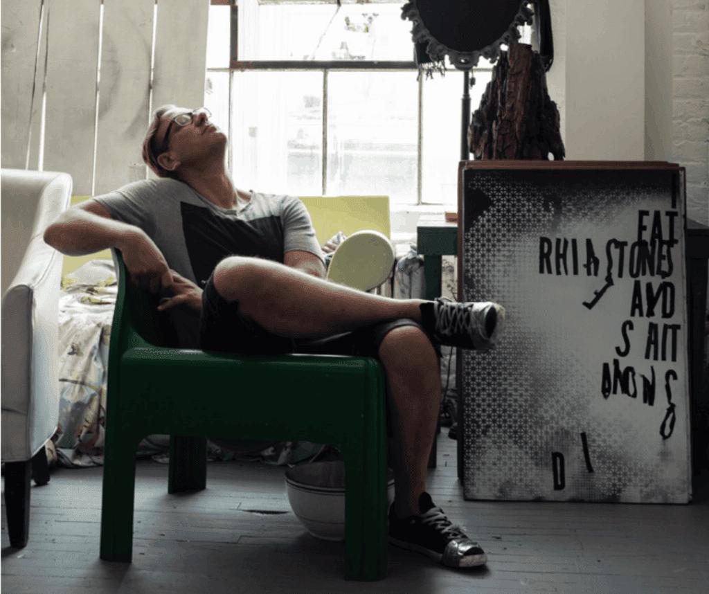 Michael Bevilacqua in his studio