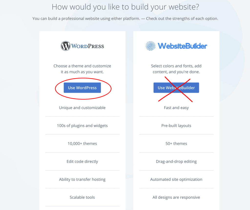 Bluehost WordPress Install 1-click install