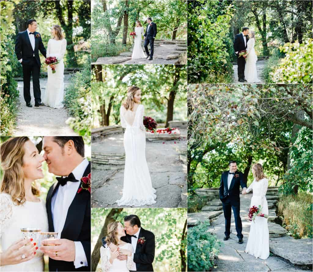 wedding pictures bride and groom, Alfred Caldwell Lily Pool wedding Chicago wedding photographer, Best Chicago wedding photographers, The best location for small wedding ceremony, Chicago elopement locations, Chicago elopement photographer