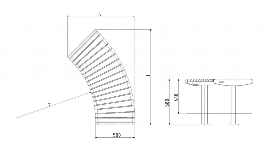 Urbania Sitzbank Foca Spirala 7