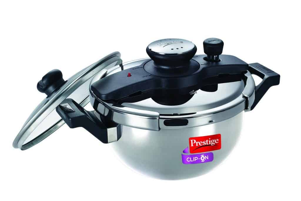 Prestige Clip On Pressure Cooker Made using Food Grade Steel