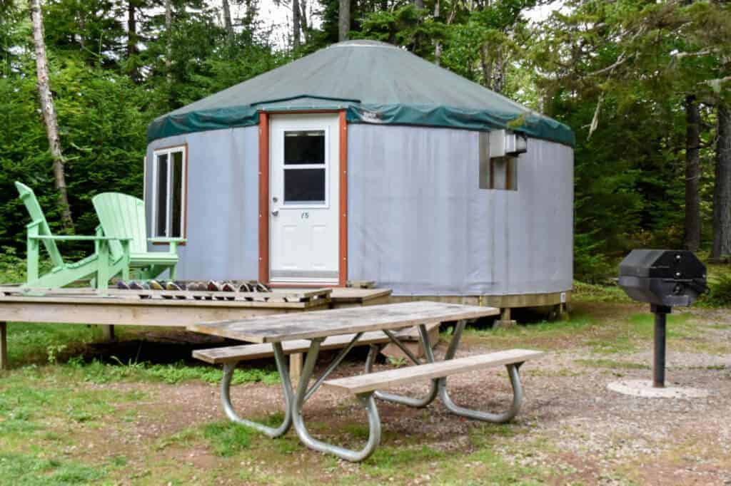 A yurt for rent in Fundy National Park
