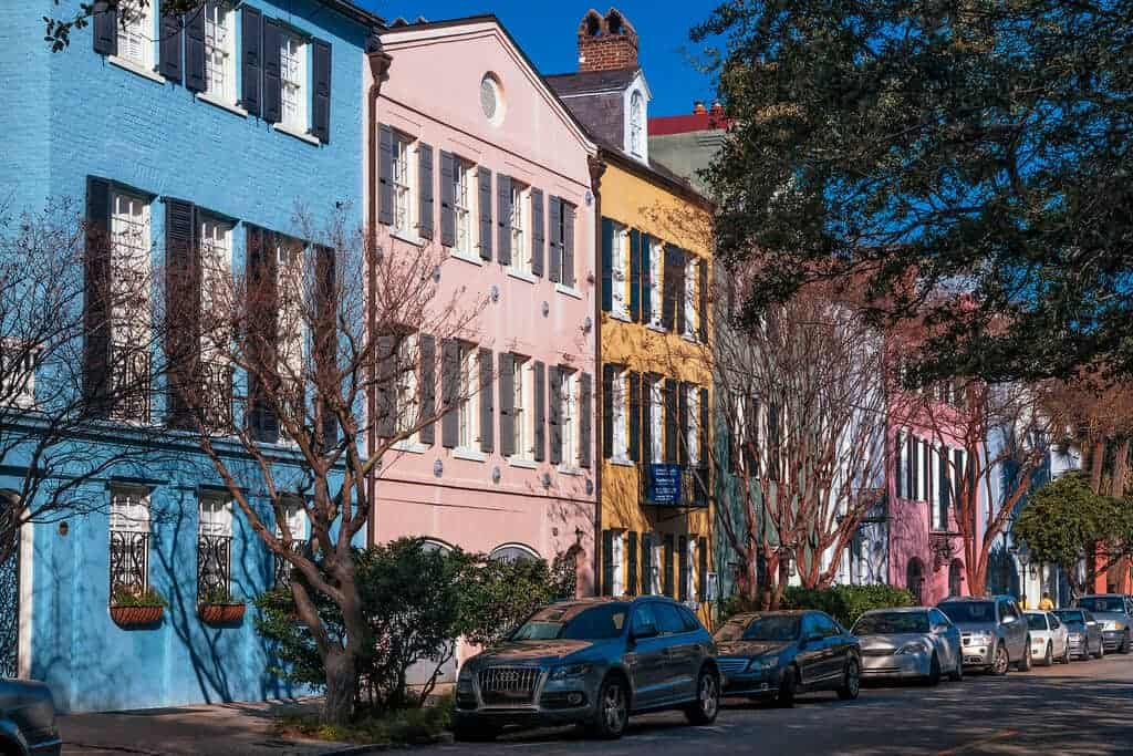 Colorful houses in Charleston, SC