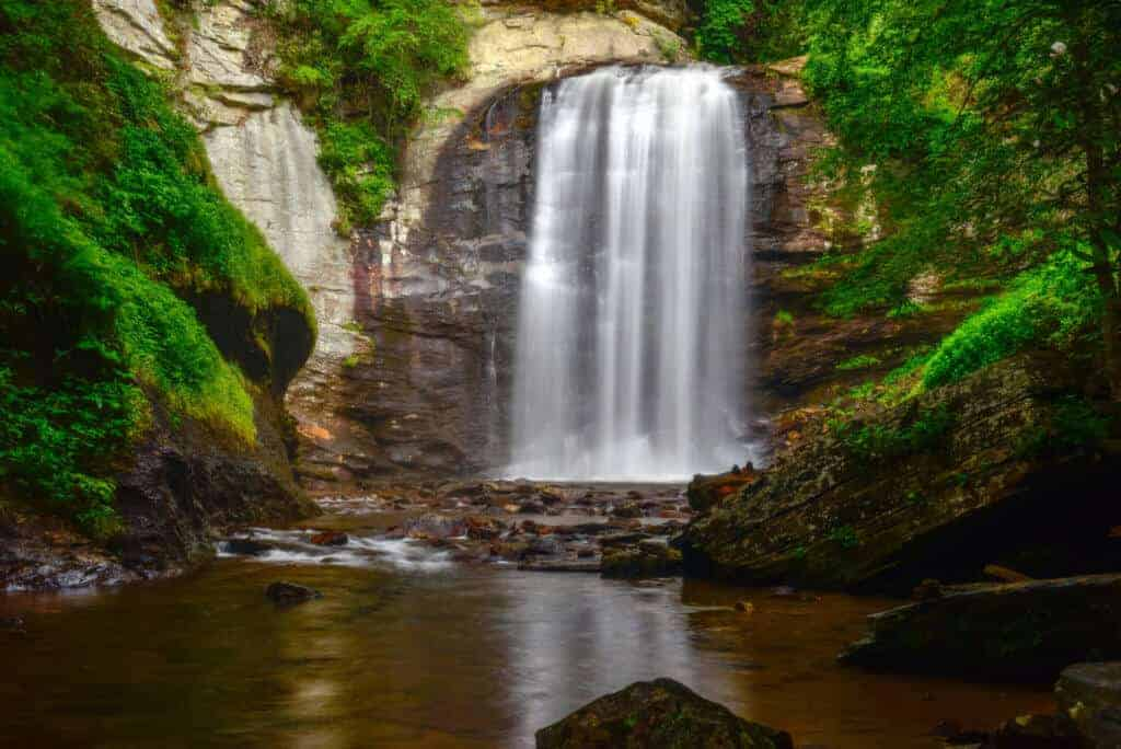 Looking Glass Falls in the Blue Ridge Mountains