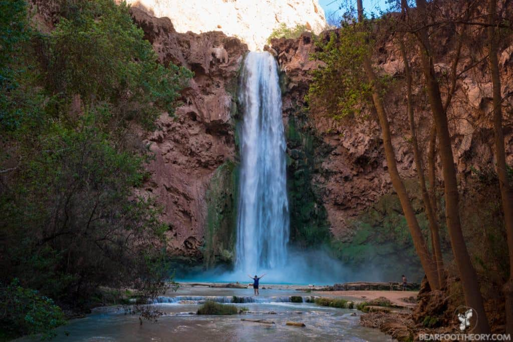 Mooney Falls in Havasu Canyon on the Havasupai Indian Reservation