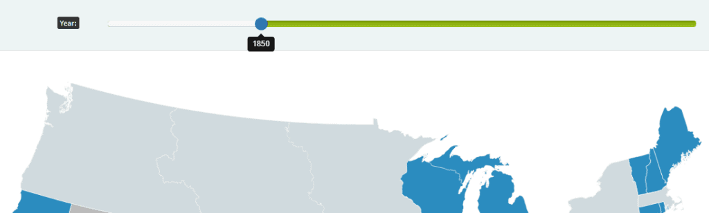us history map year change slider