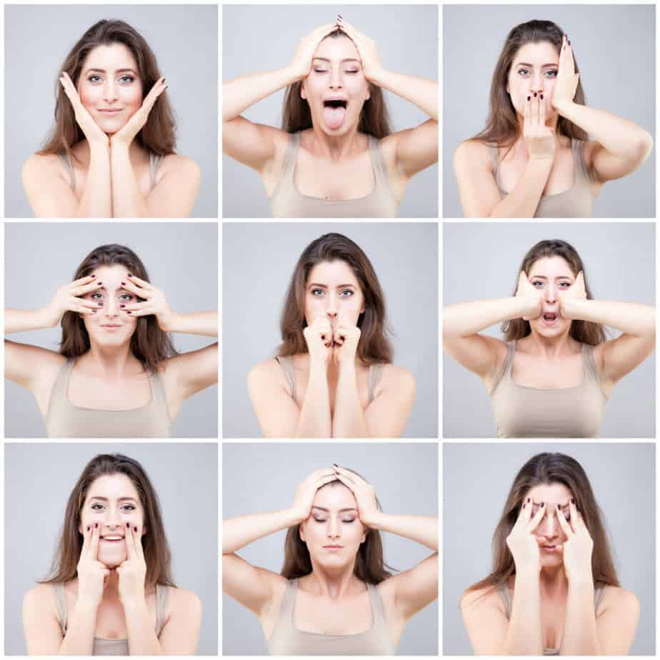 Face Yoga methods illustrated