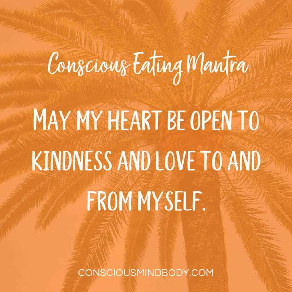 mantra card with orange background