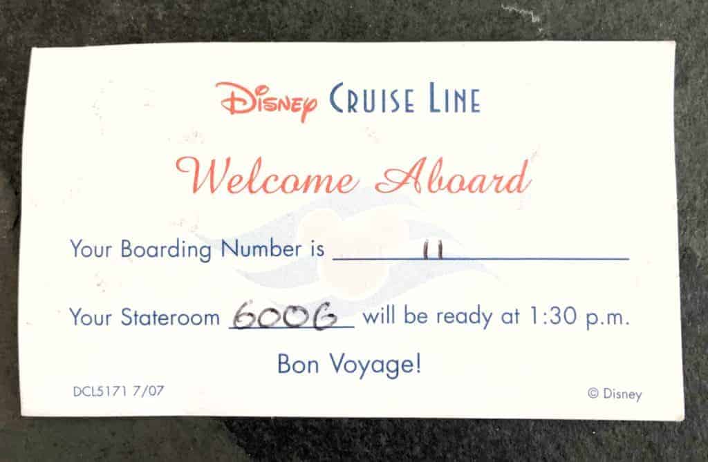 Boarding Card Disney Cruise Line