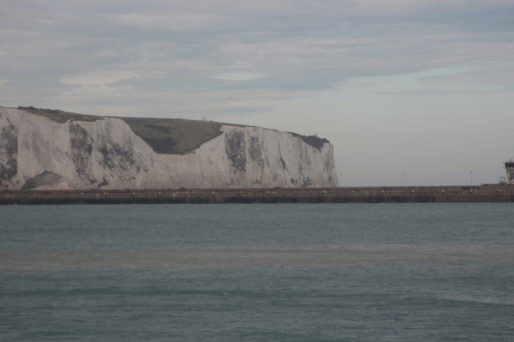 The White Cliffs of Dover from the Disney Magic Transatlantic Cruise