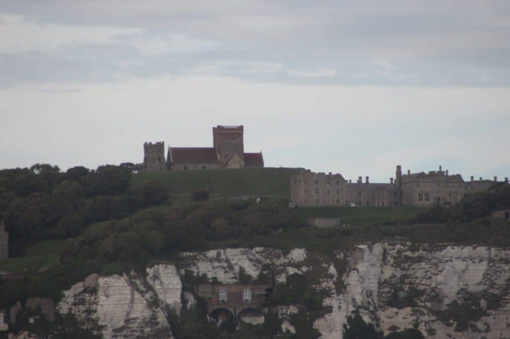 Dover Castle from the Disney Magic Transatlantic Cruise