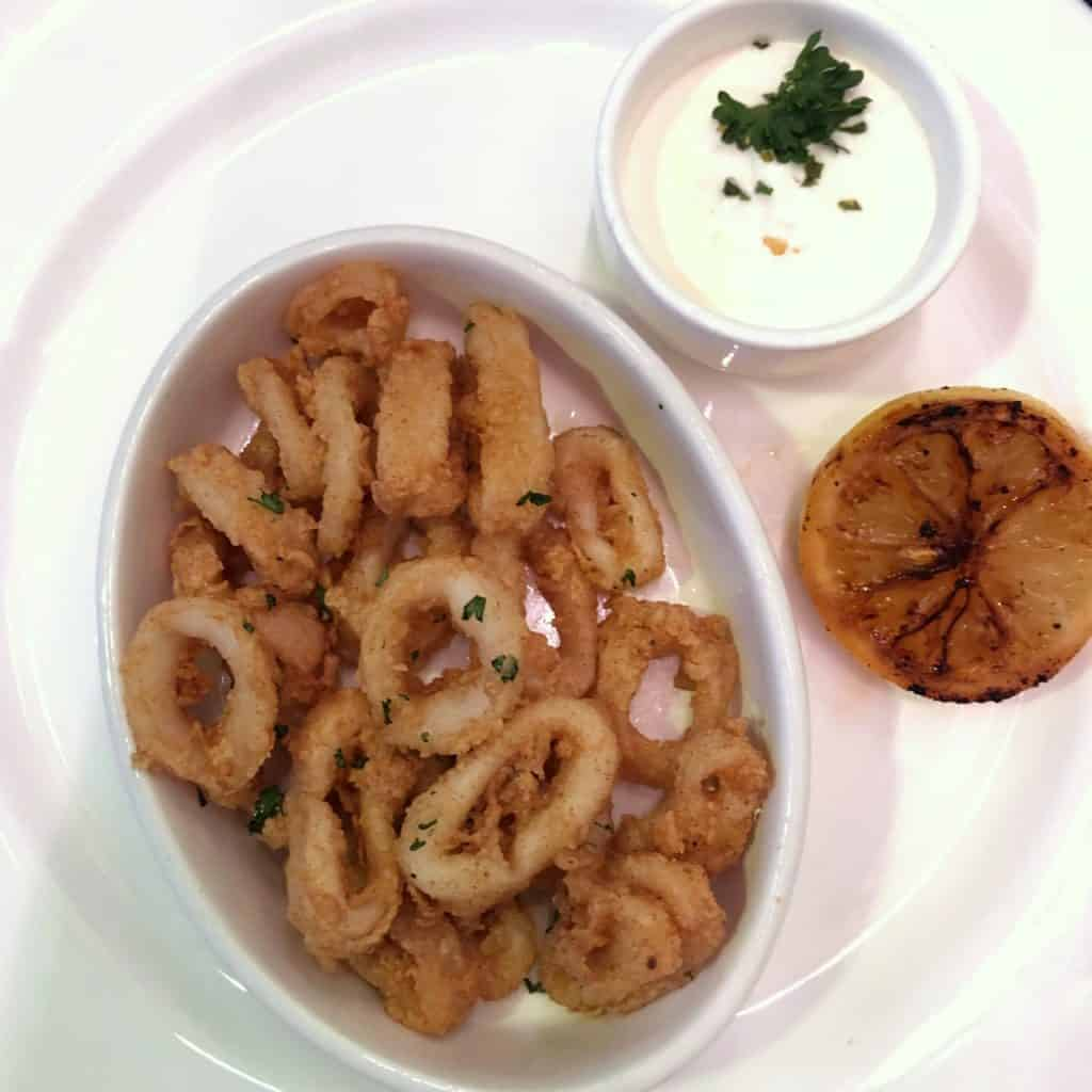 Fried Spiced Calamari from the Let the Magic Begin Menu Disney Magic Transatlantic cruise
