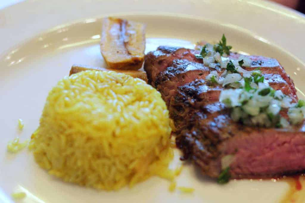 Churrasco Steak Disney Magic Lunch Transatlantic Cruise
