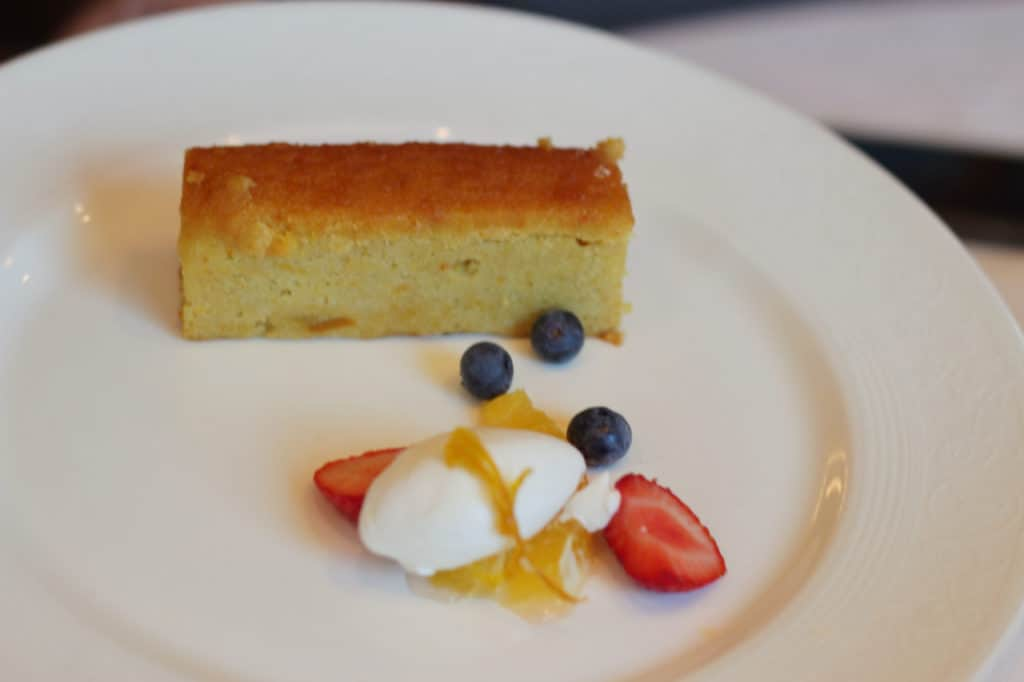 Citrus Almond Cake Disney Magic Lunch Transatlantic Cruise