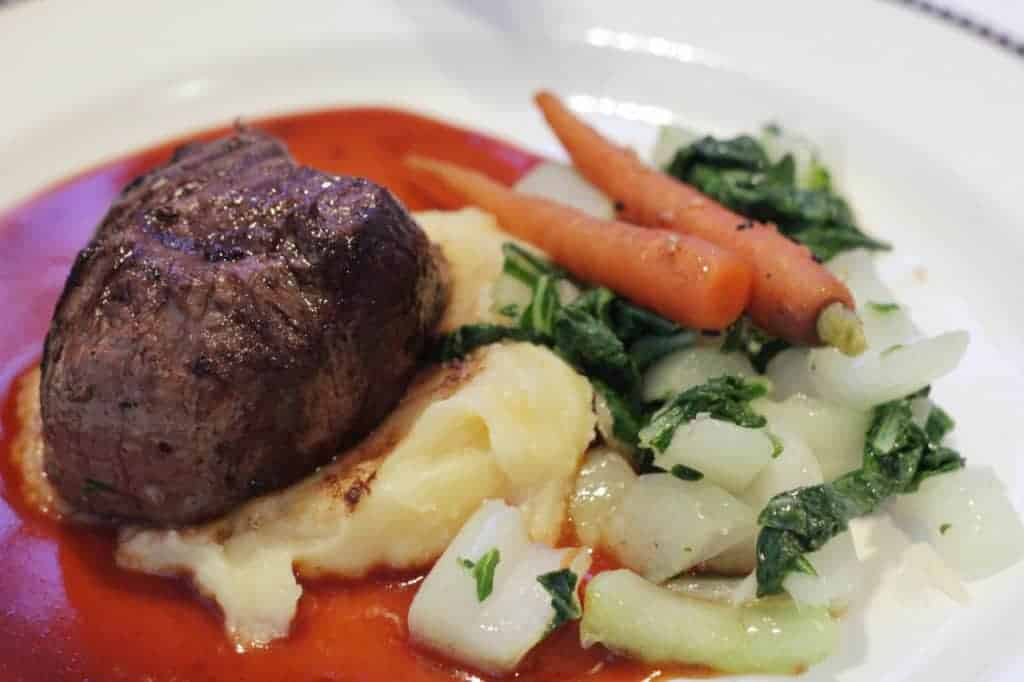 Ginger-Teriyaki dusted Angus Beef Tenderloin Animators Palate Disney Magic Transatlantic Cruise