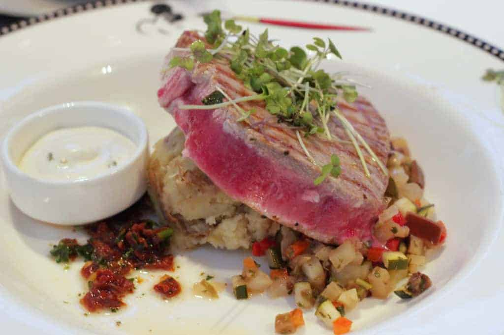 Grilled Tuna Steak Animators Palate Disney Magic Transatlantic Cruise