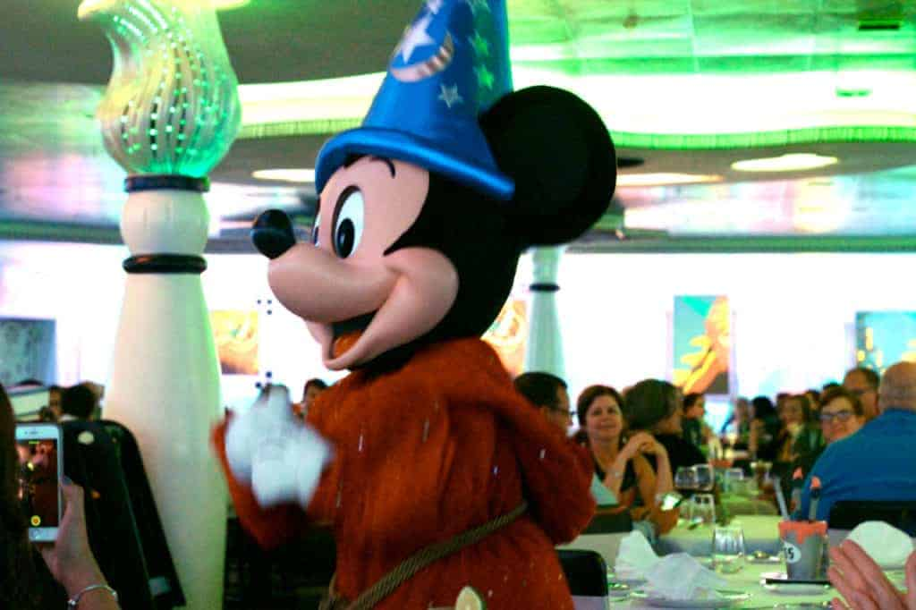 Sorcerer Mickey at Animator's Palate Disney Magic Westbound Transatlantic Cruise