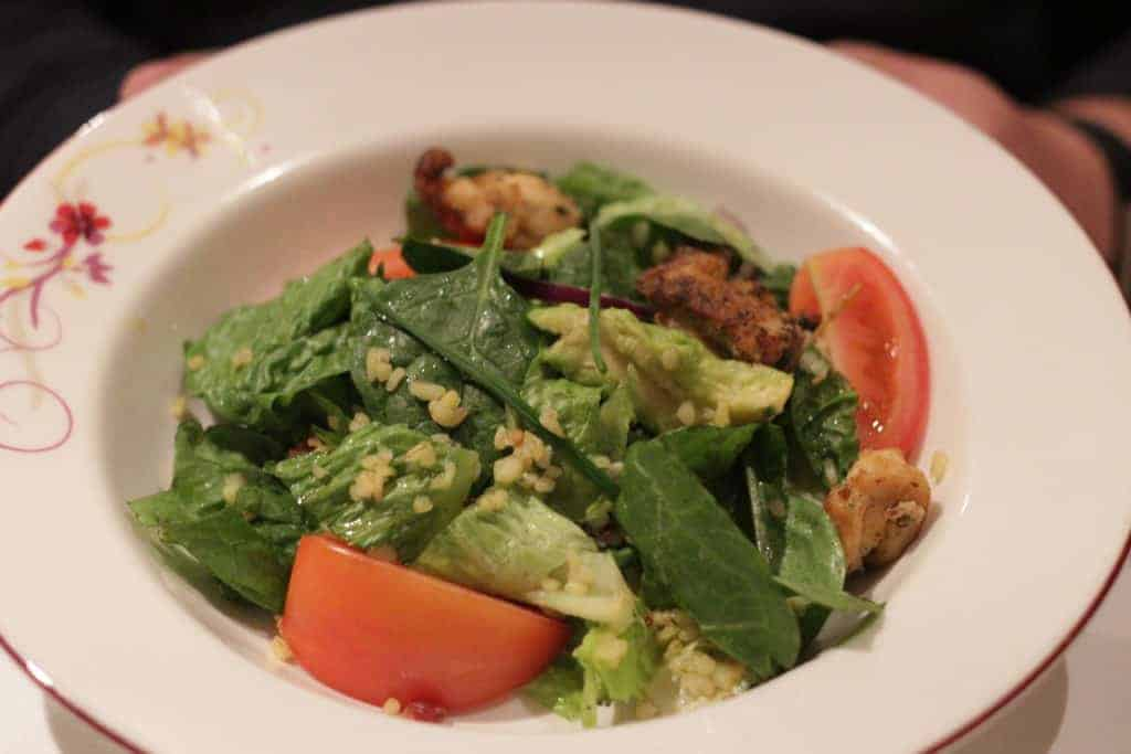 Chopped Iceberg Lettuce and Baby Spinach Salad Rapunzel's Royal Table Seasons Menu Transatlantic Cruise Disney Magic