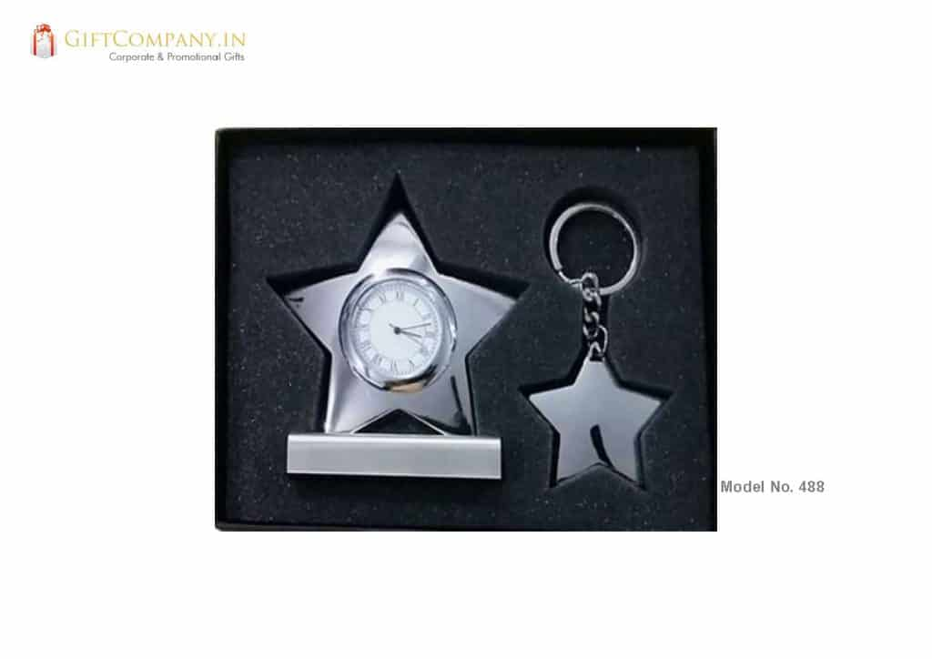 Gift Set - Star Clock and Key Chain