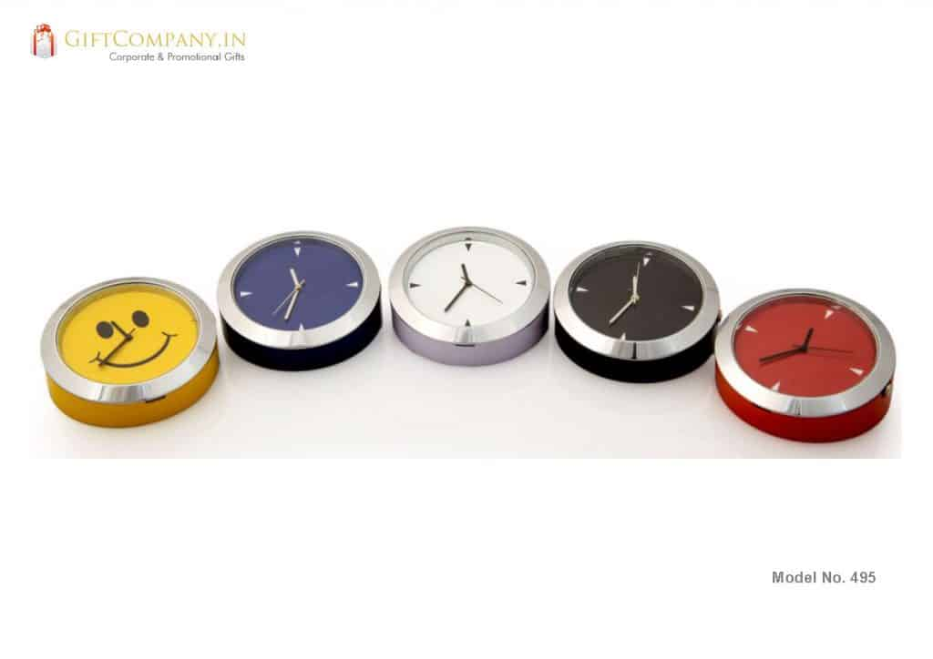 Face Up Round Desk Clock