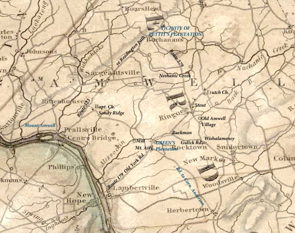 Detail, 1828 Map of the State of New Jersey . . . by Thomas Gordon