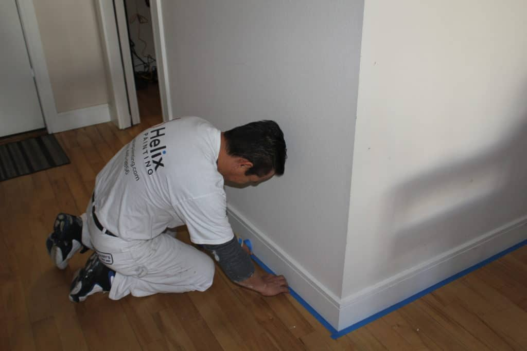 helix painter preparing room for painting