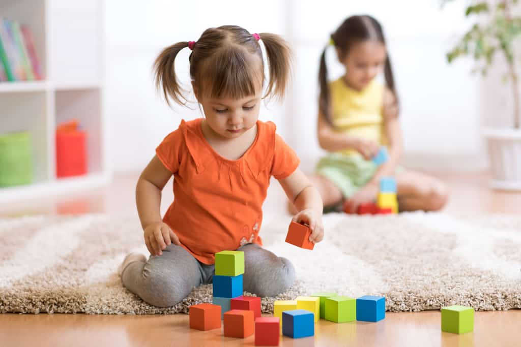 Child playing independently