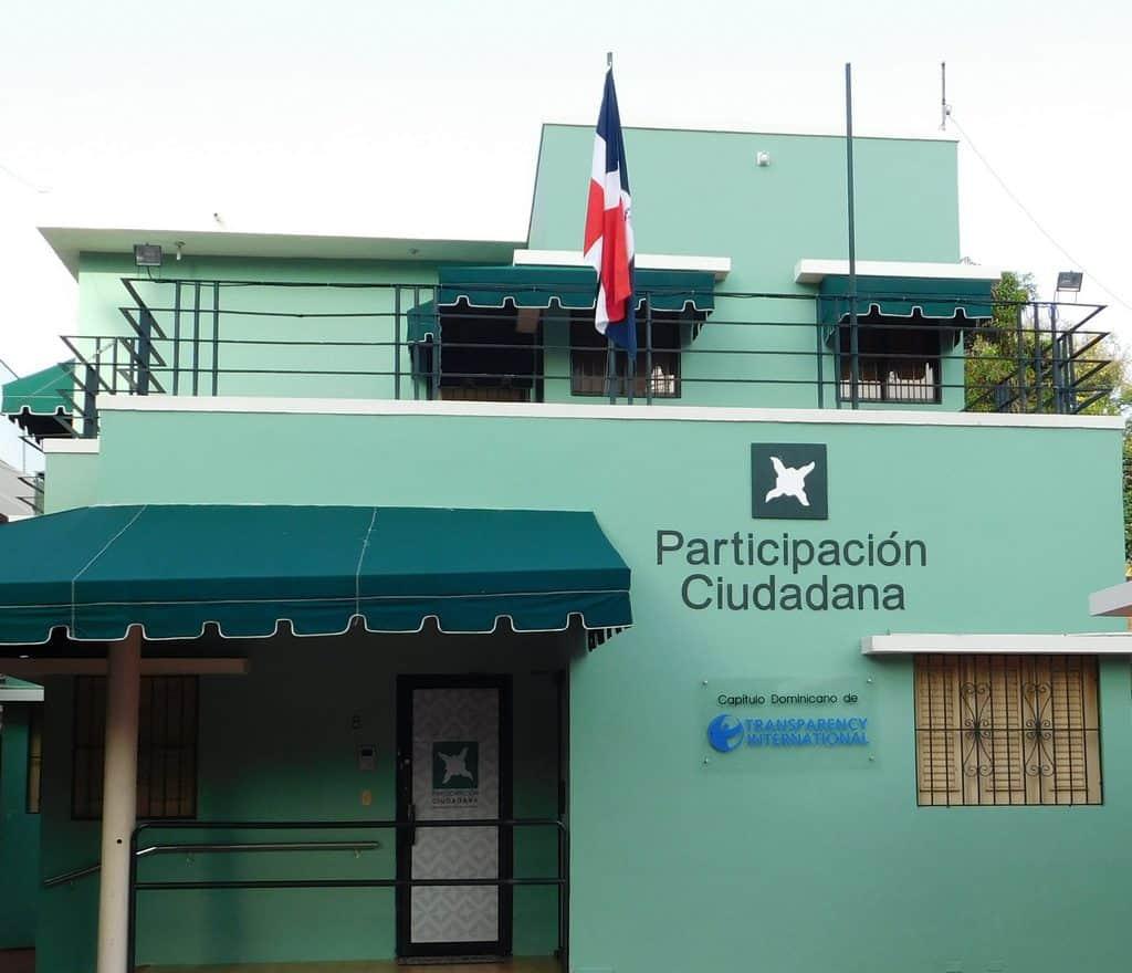 Fachada de la sede del movimiento cívico Participación Ciudadana.