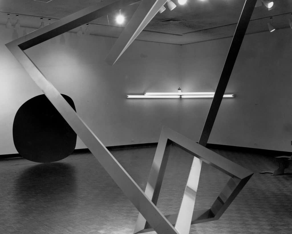 Installation view 1966 'Primary Structures' exhibition at the Jewish Museum in New York. Photo courtesy of Jewish Museum. Minimalism