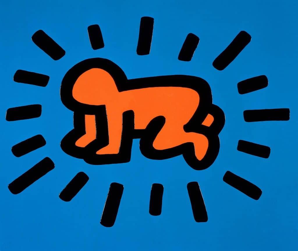 Keith Haring Pop Art. Radiant Baby.