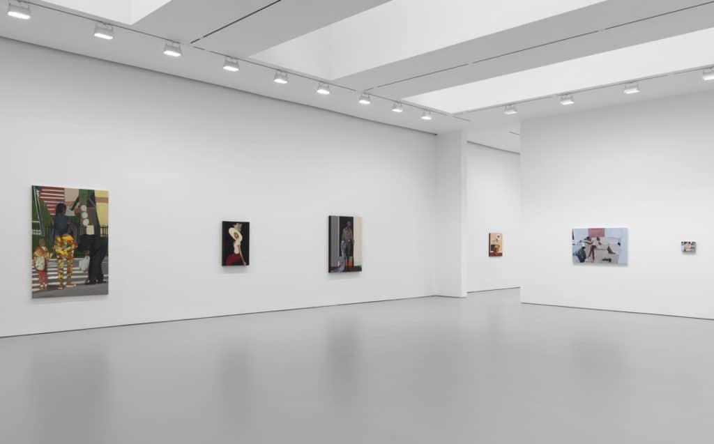 Installation view, Noah Davis, David Zwirner, New York