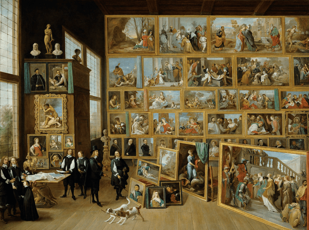 The Archduke Leopold Wilhelm in his Painting Gallery in Brussels