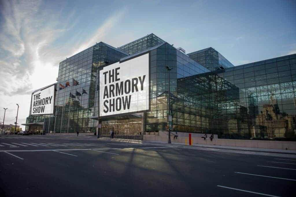 The Armory's rendering of their Javits Center branding, planned for September 2021.