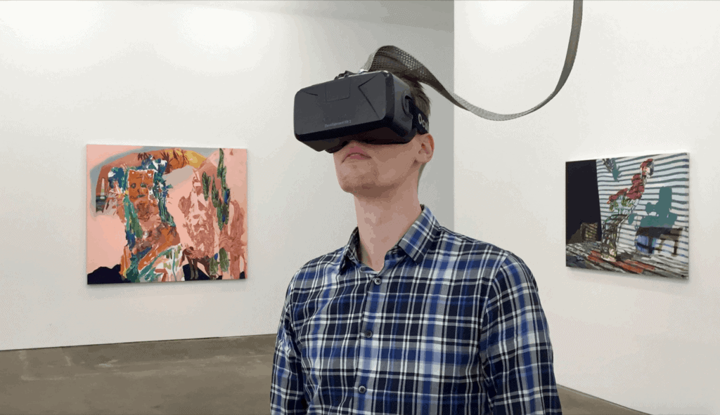 Art in VR - Installation view of Lossy, Zieher Smith & Horton