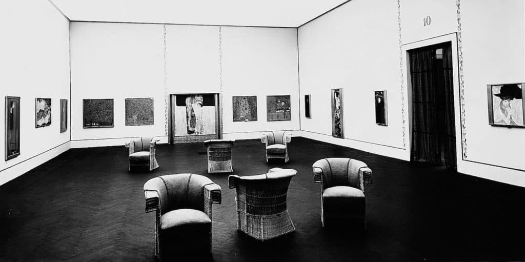 Gustav Klimt's solo exhibition at the Venice Art Biennale in 1910.