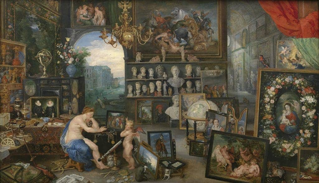 Jan Brueghel the Elder and Peter Paul Rubens, The Five Senses (Series), Sight, 1617