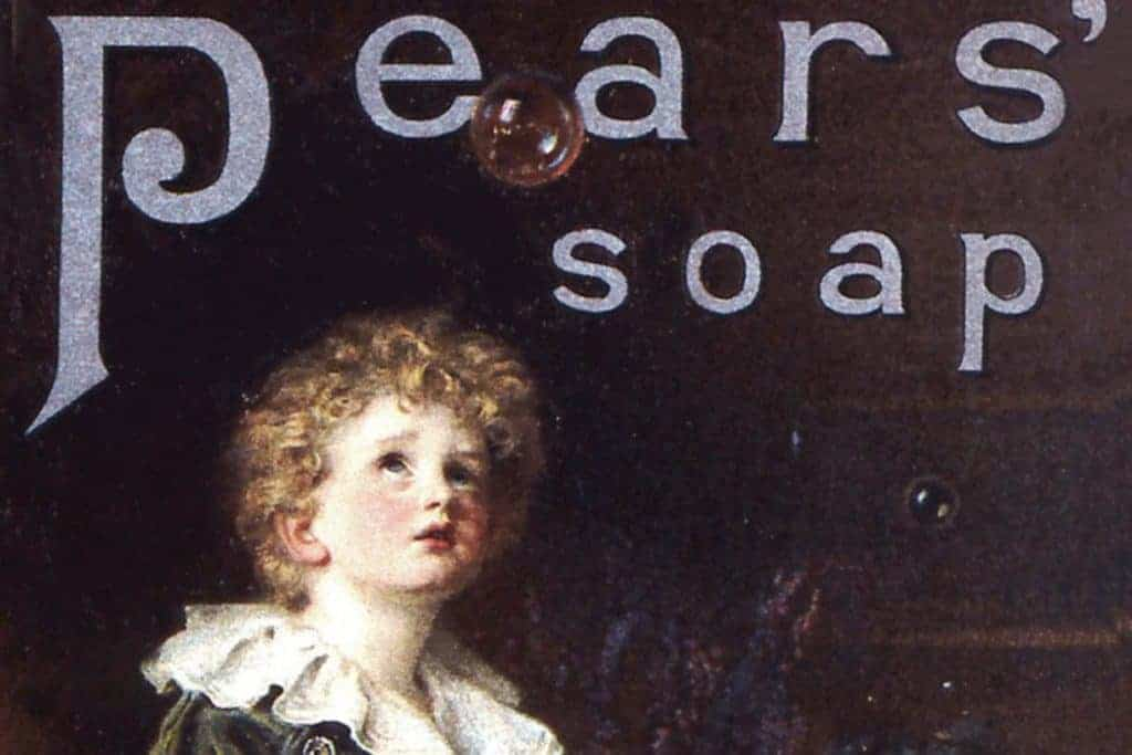 commercial art. Pears' soap advertising.