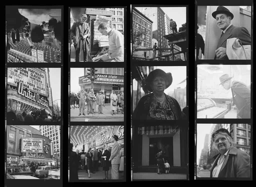 Vivian Maier, Contact Sheet, photos in Chicago, IL