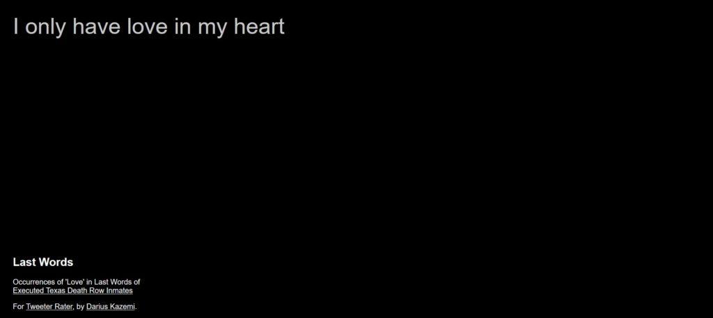 net art. Darius Kazemi, Last Words.