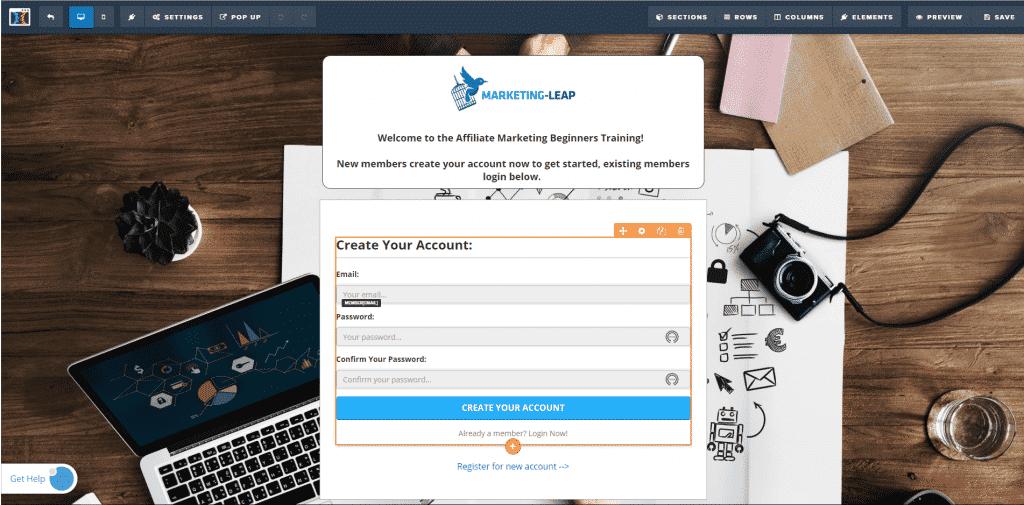 clickfunnels membershipt site signup