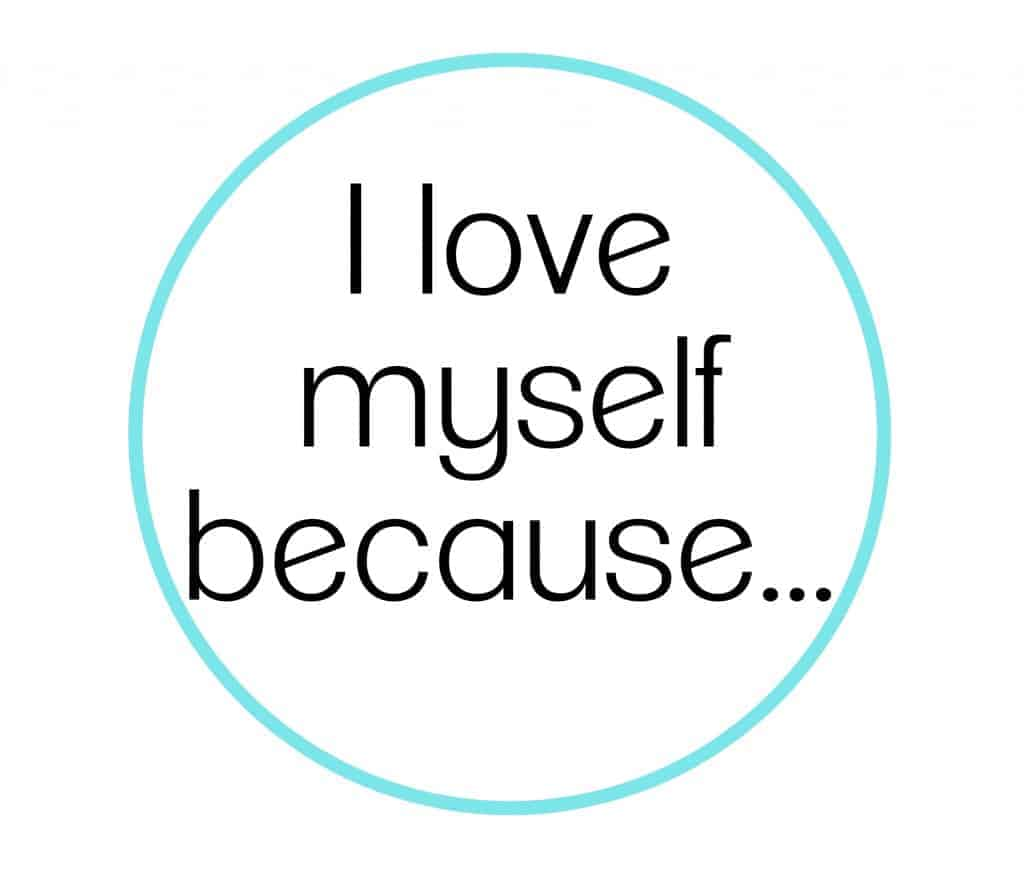 improve your body image by writing I love myself list