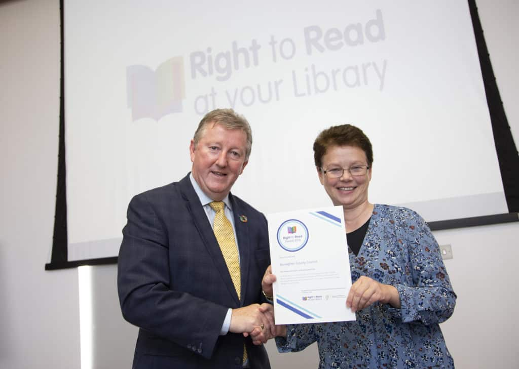 Monaghan County Council Recipient of Right to Read Champion Award