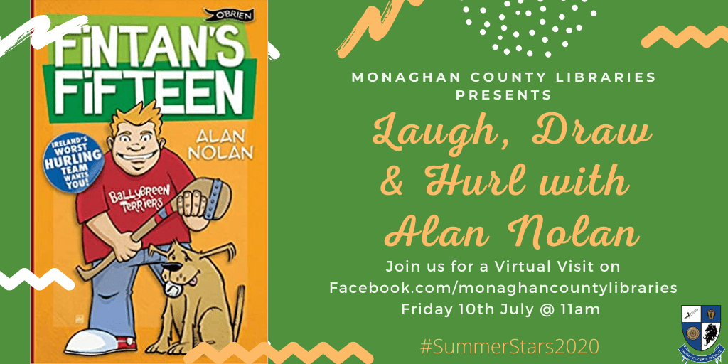 Joi us for a Virtual Visit from Alan Nolan over on Facebook July 10th @ 11am