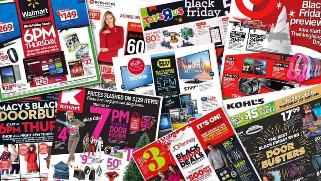 Black Friday Ad Collage