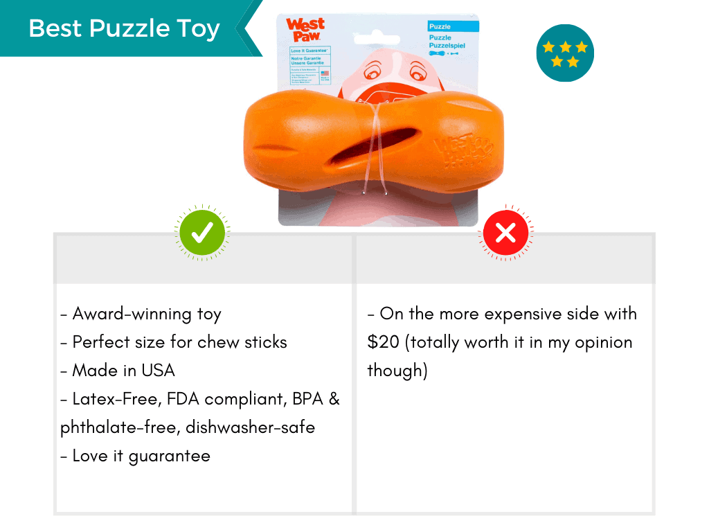Product card featuring the best durable puzzle toy.