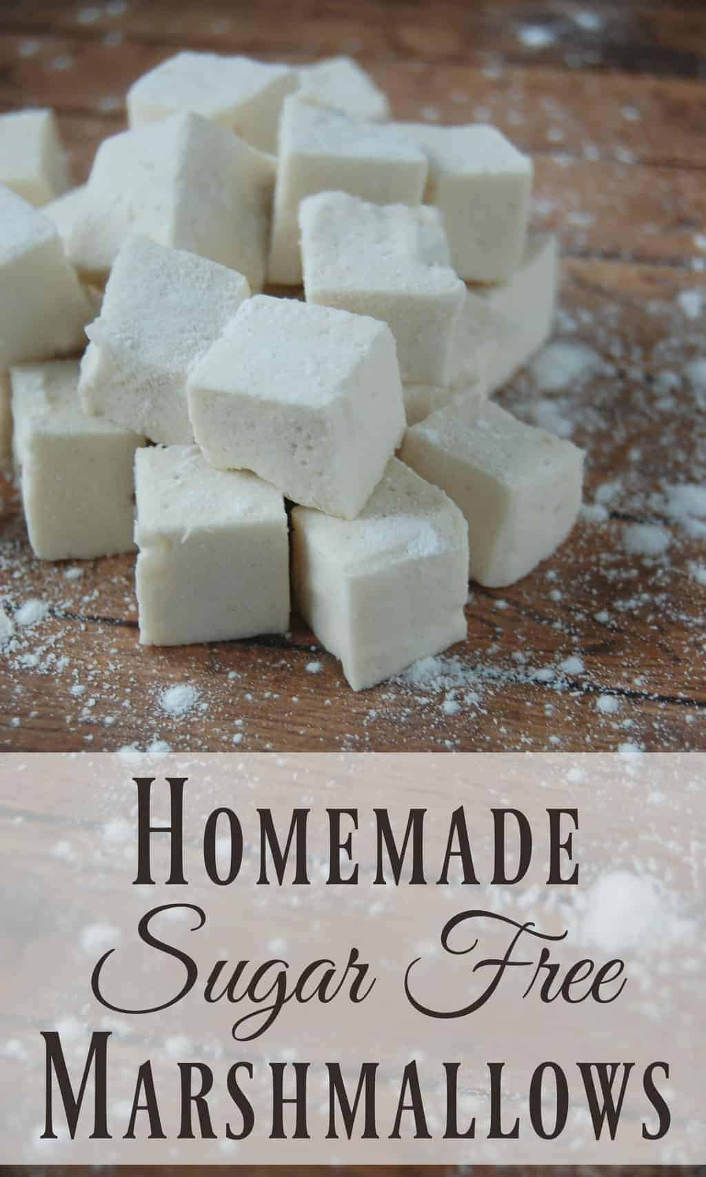 Homemade Sugar Free Marshmallows! - Where has this been all my life? No more guilt tripping over marshmallows for me! These things are practically a health food once you ditch all the yucky ingredients that most store bought marshmallows have! #marshmallows #homemade #gelatin #sugarfree #refinedsugarfree #smores #hotchocolate