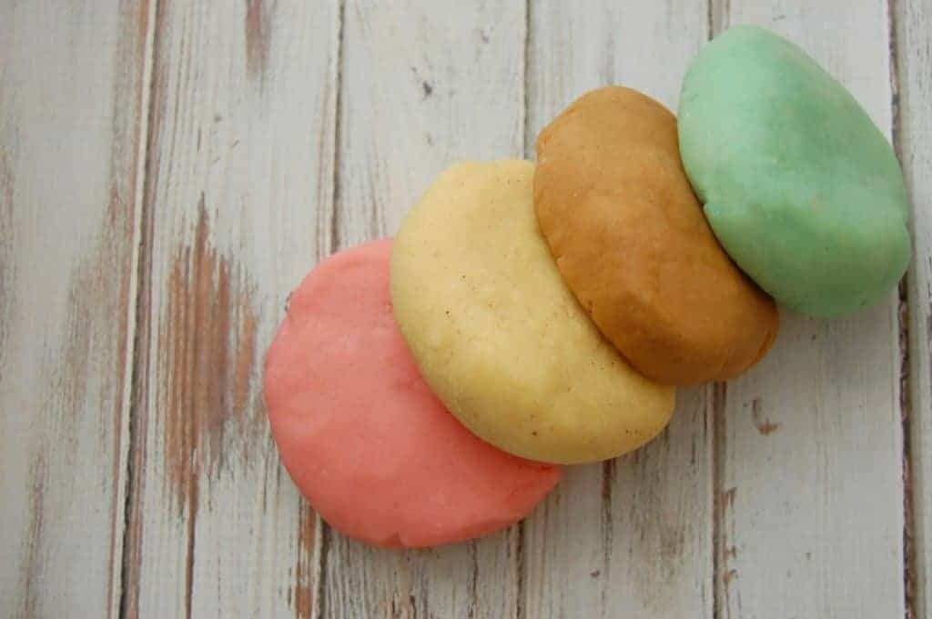 Christmas Playdough made with Natural Colors